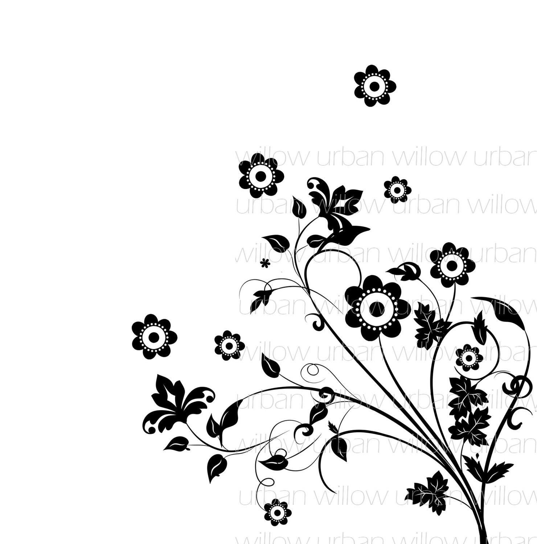 DIGITAL Floral Overlay/ clip art pack 6 digital Delicate.