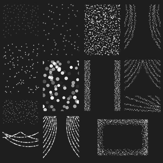 Bokeh String Lights, Digital Clipart Overlay.