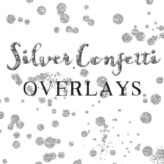 Silver Confetti Overlay Clipart Glitter Confetti Clipart.