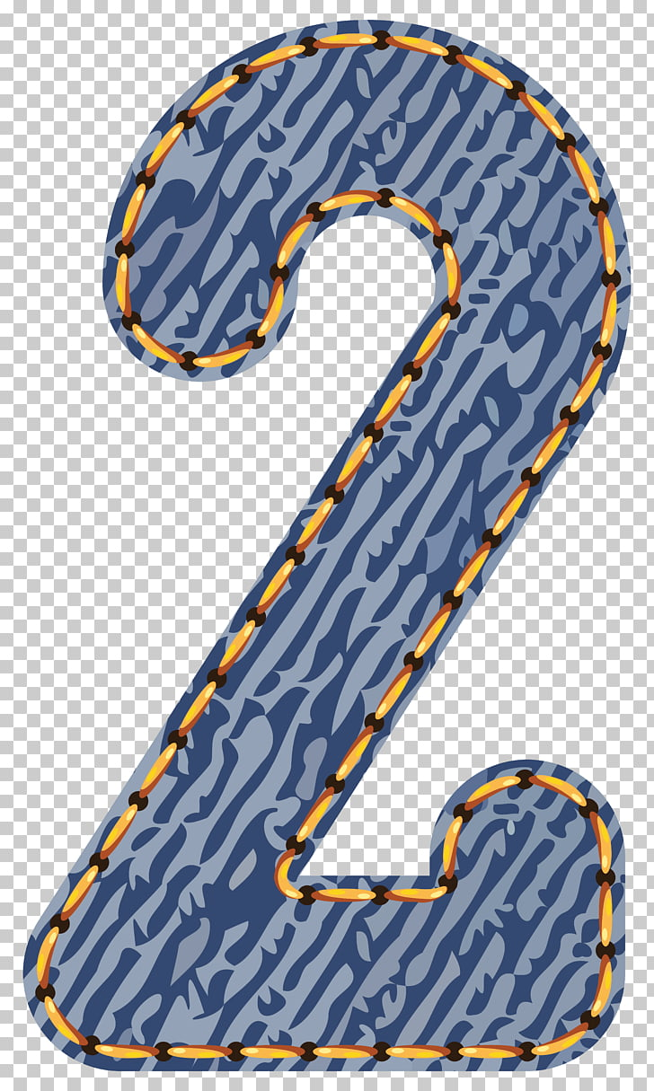 Number , Jeans Number Two , number 2 text overlay PNG.