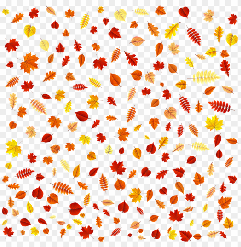 Download fall leaves overlay clipart png photo.