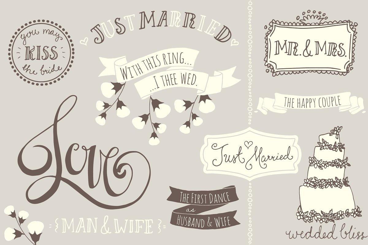 Wedding Overlays / Photoshop Brushes.