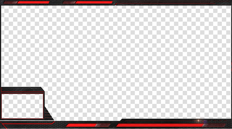 Free Stream overlays Hexalove, red and black frame graphic.