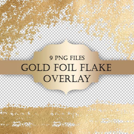 Gold Foil Flake Digital Clip Art Overlay gold by ItGirlDigital.