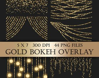 Gold Foil Dot Confetti Digital Clip Art Overlay by ItGirlDigital.