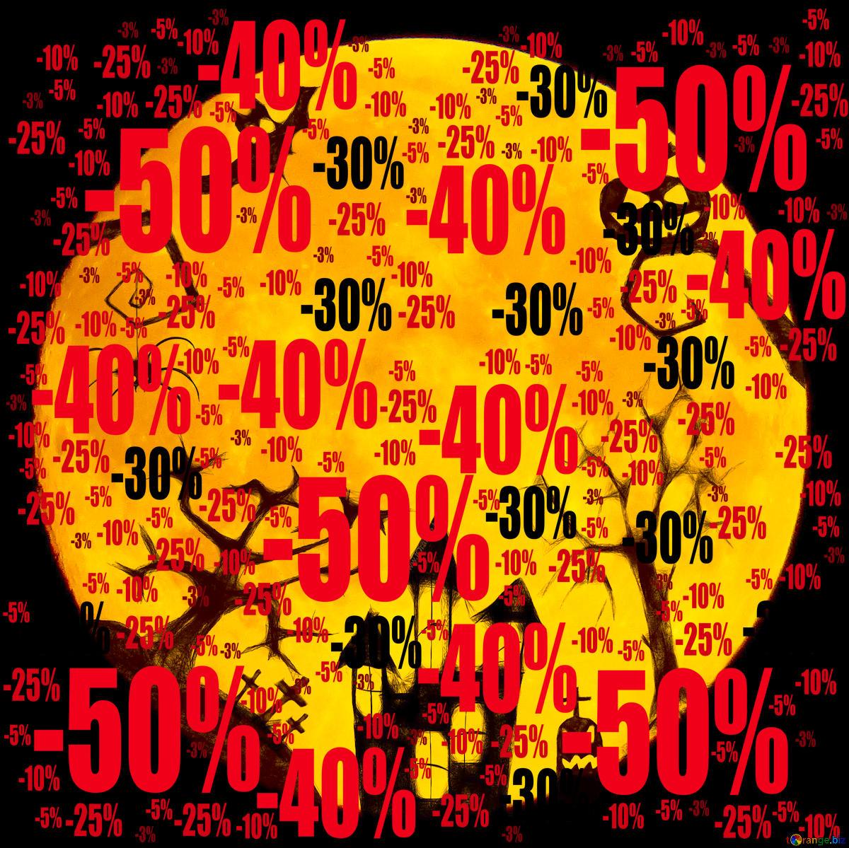 Descargar foto gratis Halloween clipart moon overlay.