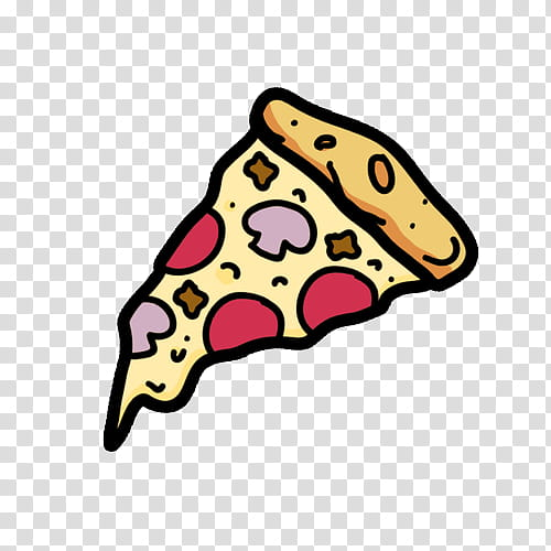 OVERLAYS, sliced pizza illustration transparent background.
