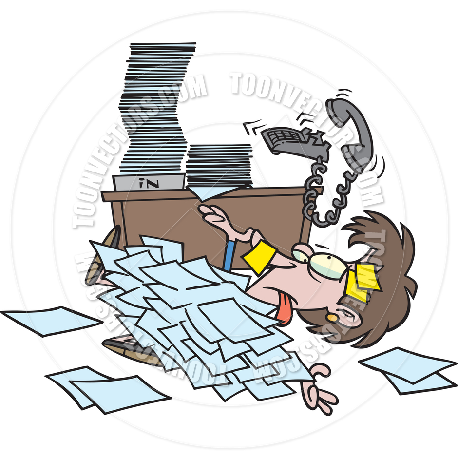 Paperwork Overload Clipart.