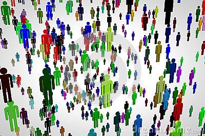 Overpopulation Stock Illustration.