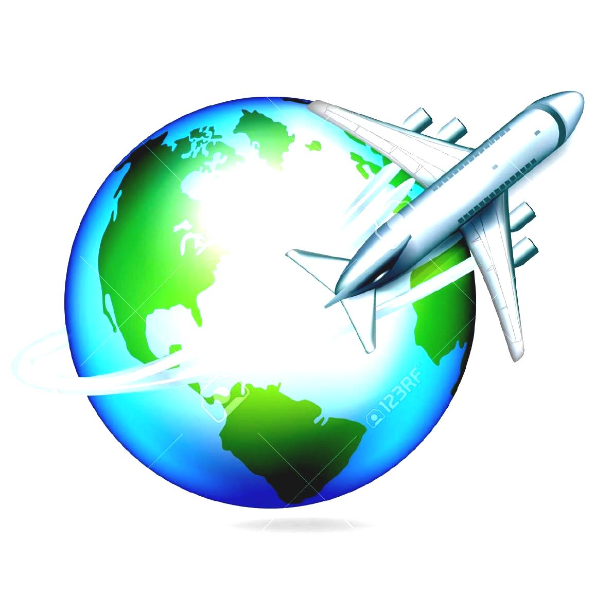 Travel Around The World Clipart Overseas Stock Vector Illustration And Royalty Free Airplane Circling Globe