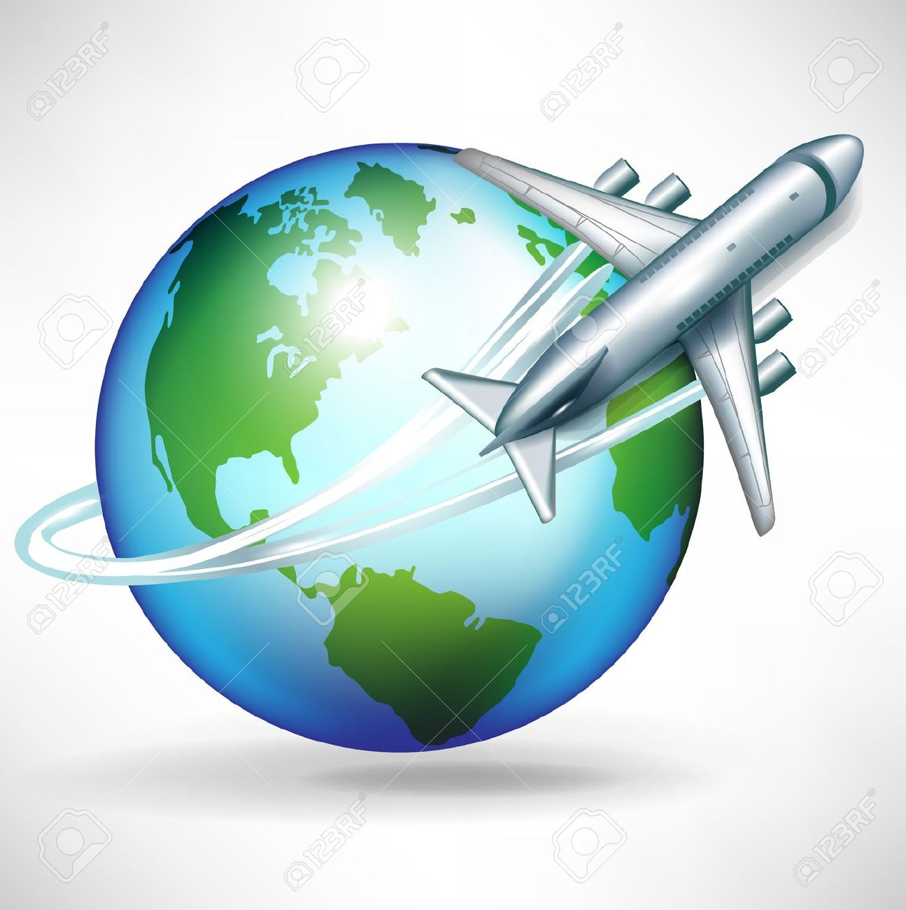 Travel Around The World Clipart Overseas Stock Vector Illustration.