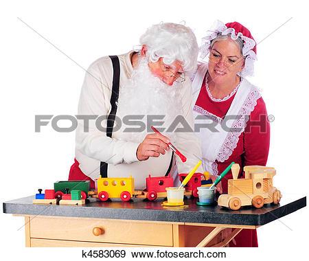 Stock Photograph of Overseeing Santa's Work k4583069.