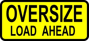Caution Oversized Load Clip Art at Clker.com.