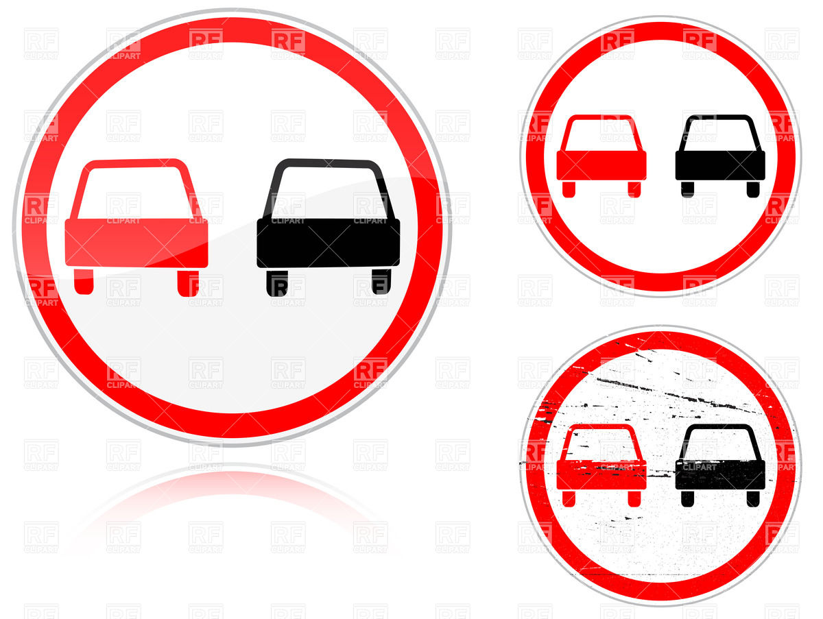 No passing road sign Vector Image #33722.
