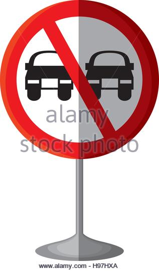 Traffic Sign No Overtaking Stock Photos & Traffic Sign No.