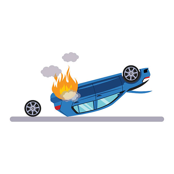 Overturned Car Clip Art, Vector Images & Illustrations.