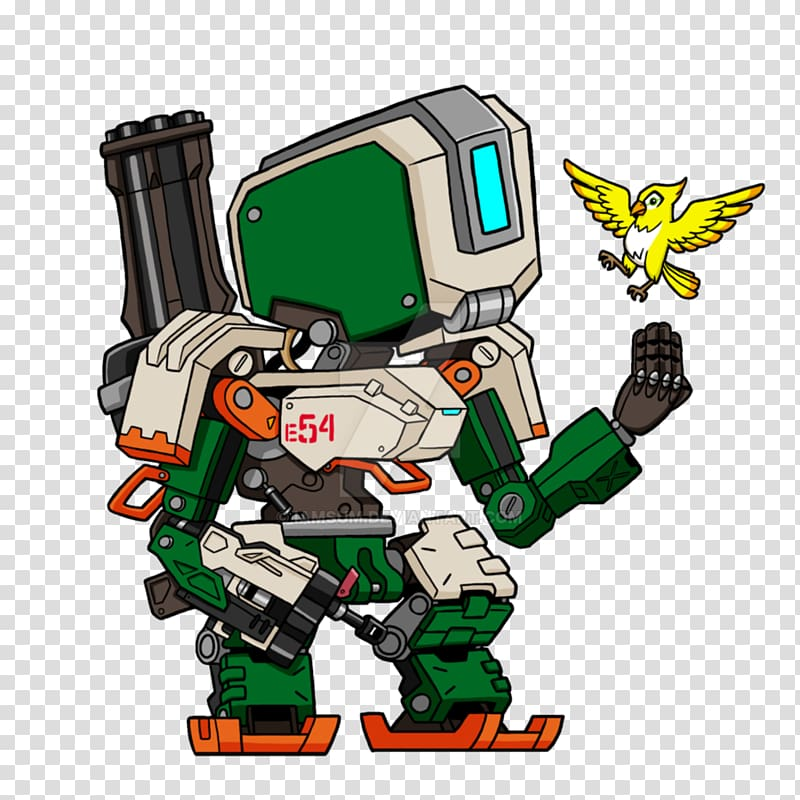 Overwatch Drawing Cartoon Character Fan art, Bastion.