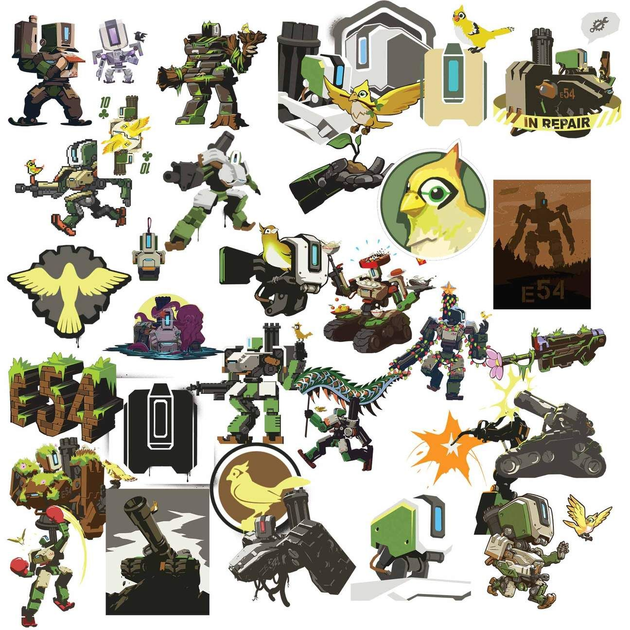 Overwatch Bastion Clipart in 2019.