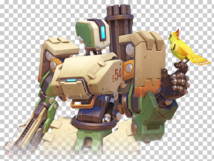 Characters of Overwatch Bastion BlizzCon Hanzo, Bastion PNG.