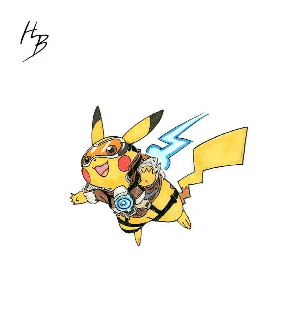 This Artist Is Turning Pokemon into Overwatch Characters and It's.