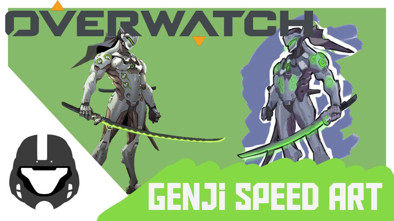 Overwatch Genji Clipart.