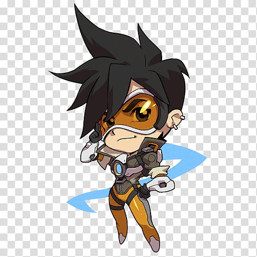 Icons Heroes Overwatch, Tracer transparent background PNG.