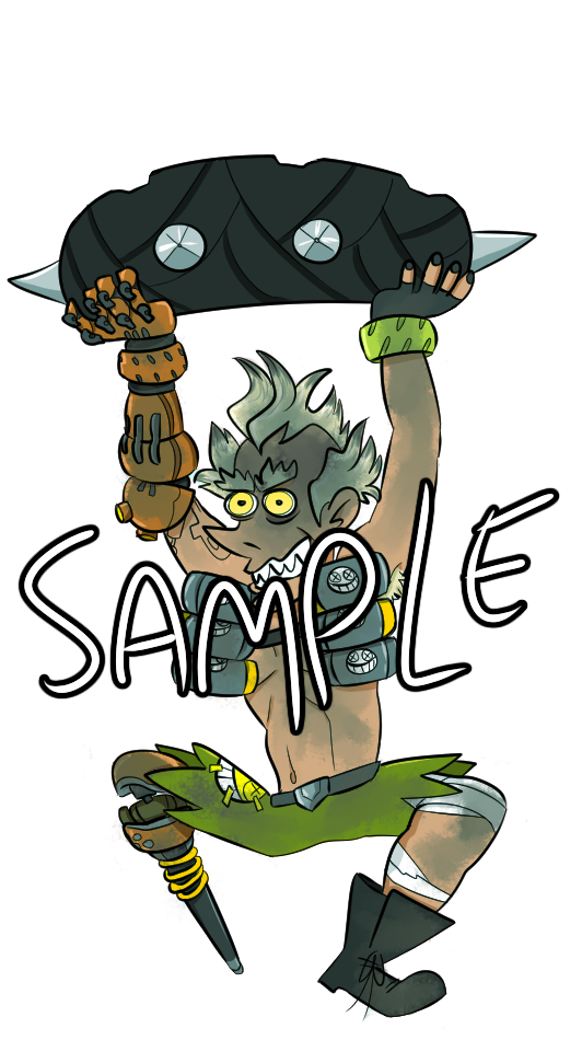 OVERWATCH Junkrat Double Sided Hanging Strap on Storenvy.