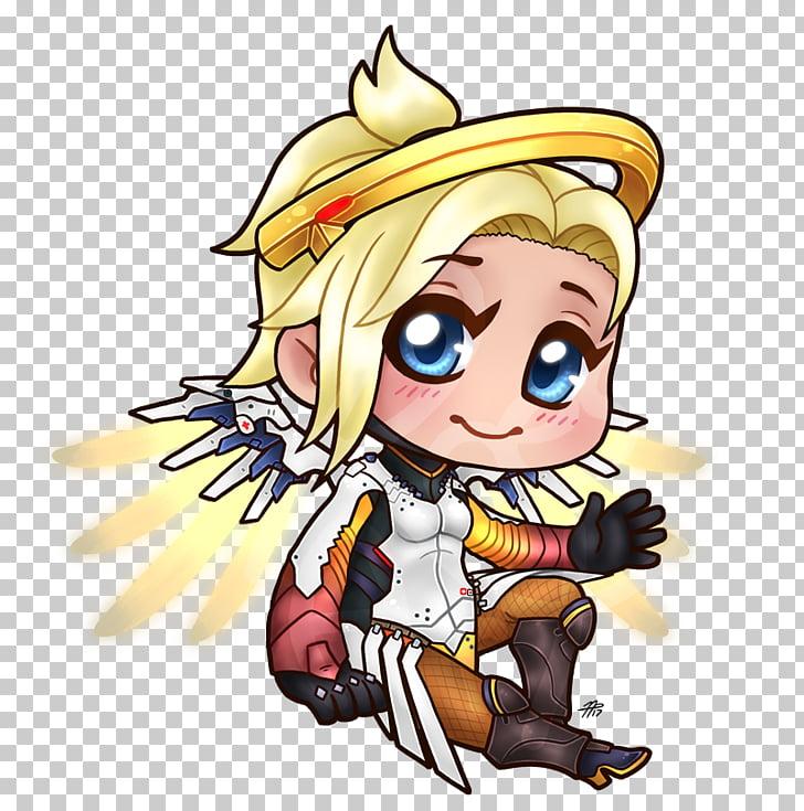 Overwatch Mercy Drawing Chibi Art, Chibi PNG clipart.