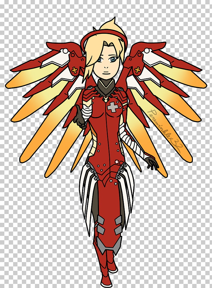 Overwatch Mercy Fan art, fan PNG clipart.