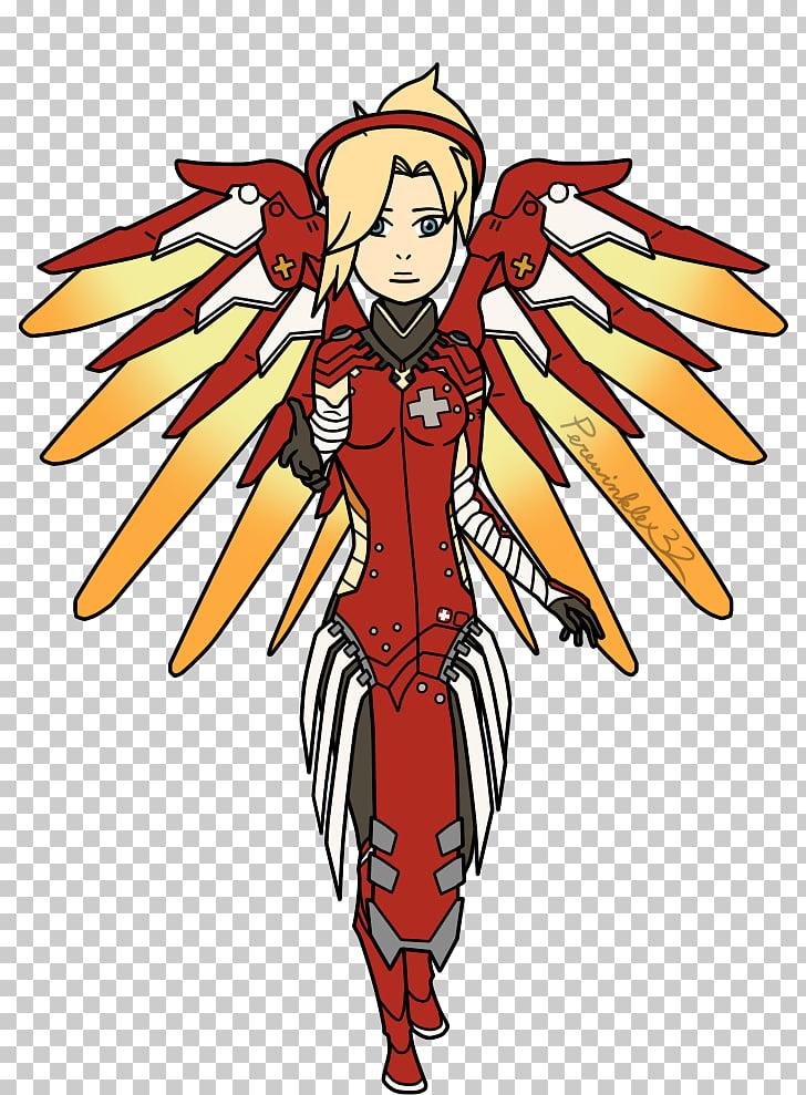 Overwatch Mercy Fan art, fan PNG clipart.
