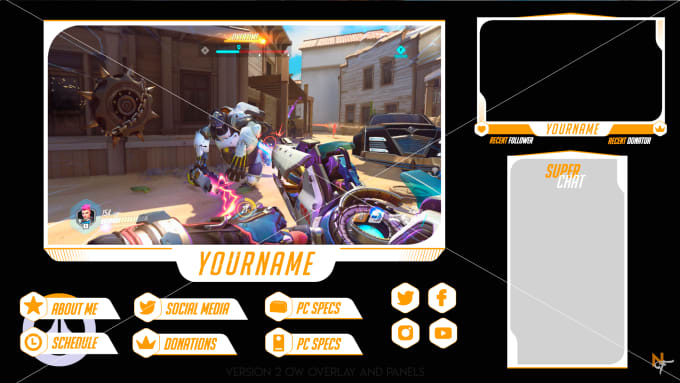 teffarango : I will sell this overwatch overlay stream package v2 for $15  on www.fiverr.com.