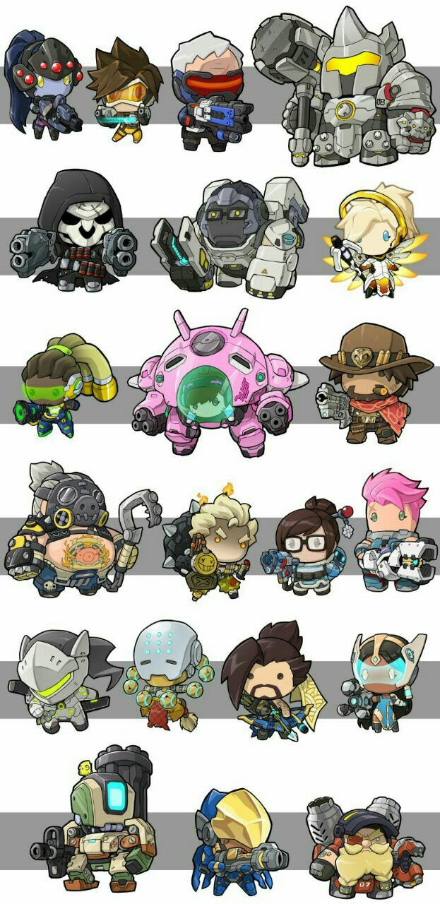 Overwatch Character Clipart.