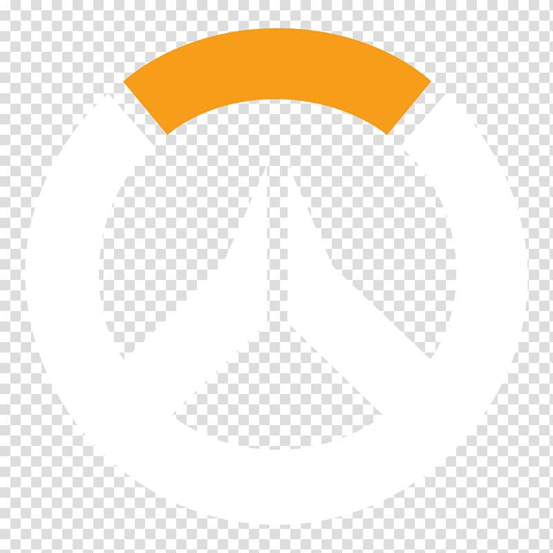 Round white and orange emble, Overwatch Heroes of the Storm.