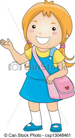 Student Clipart Vector.