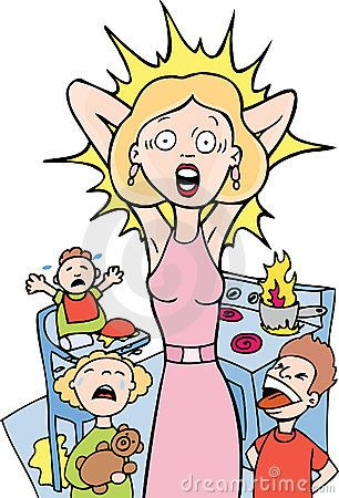 Stressed out teacher clipart.