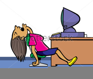 Overworked Office Worker Clipart.