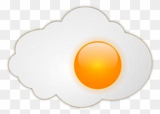 Fried Egg Clipart Illustration Image.