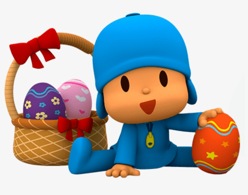 Free Png Download Pocoyo Found Easter Eggs Clipart.