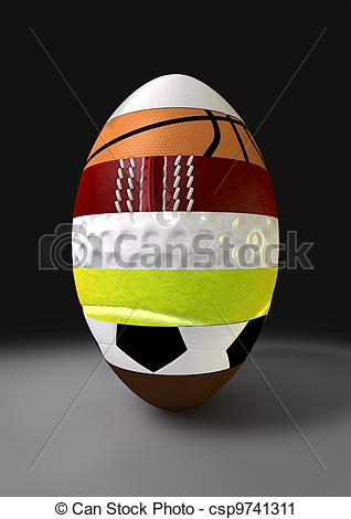 Stock Photography of Segmented Sports Ball.