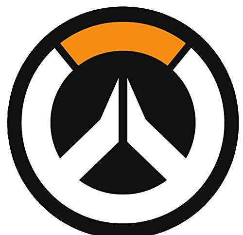 JUST FUNKY Official Overwatch Logo Design Round Blanket/Tapestry, 220 GSM  Coral Fleece, Set of 1, 48 inches.