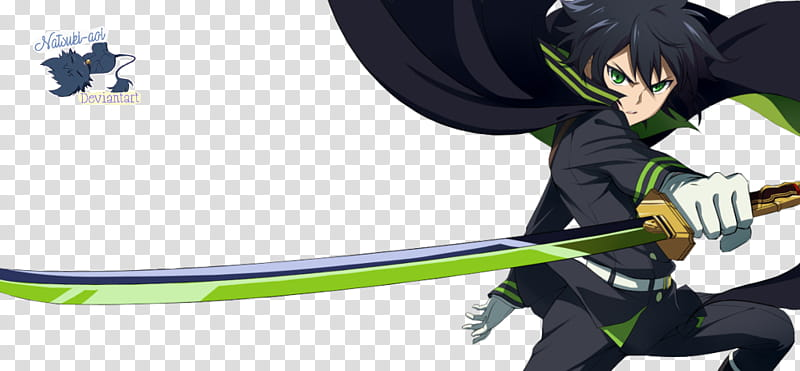 Yuu Owari No Seraph, male anime character transparent.