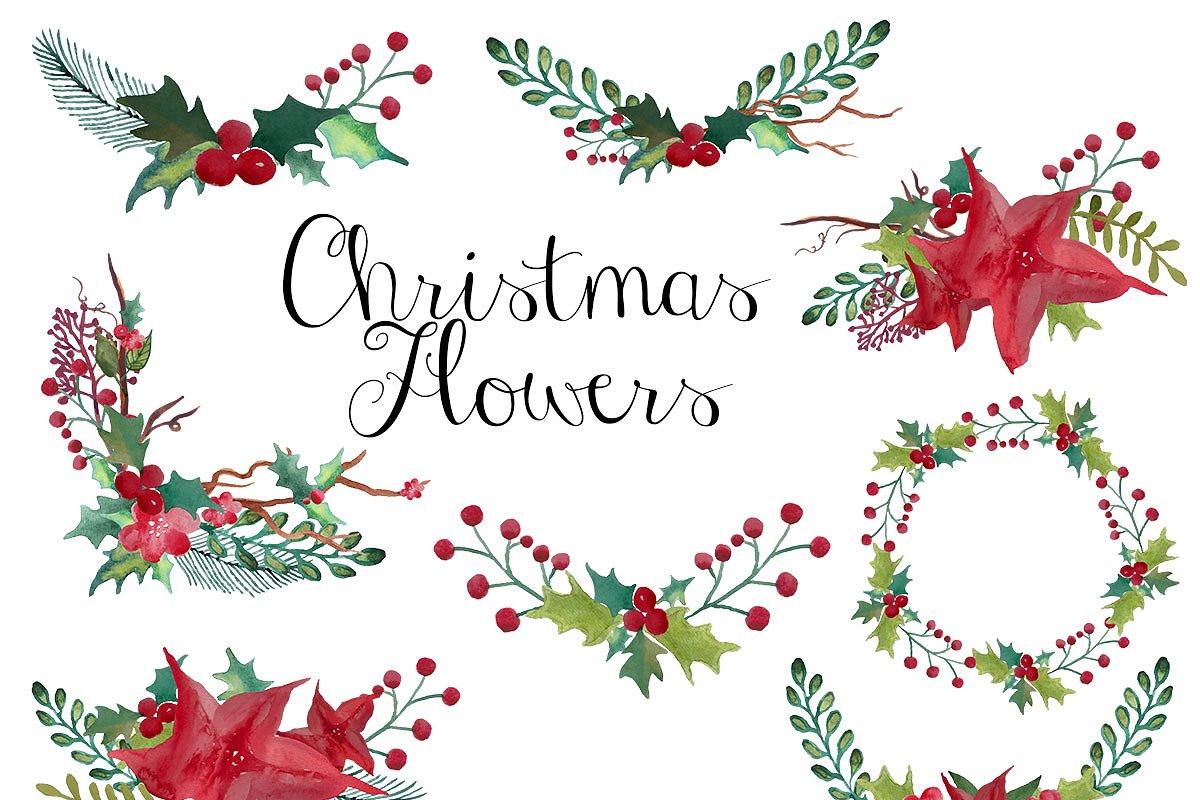 Christmas wreaths clip art ~ Illustrations ~ Creative Market.