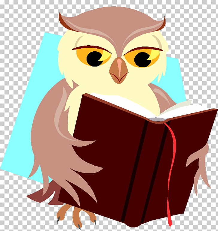 Baby Owls Book Reading, owl PNG clipart.