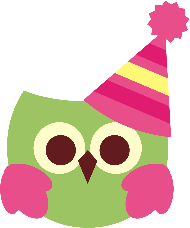 Cute birthday owl free clipart.