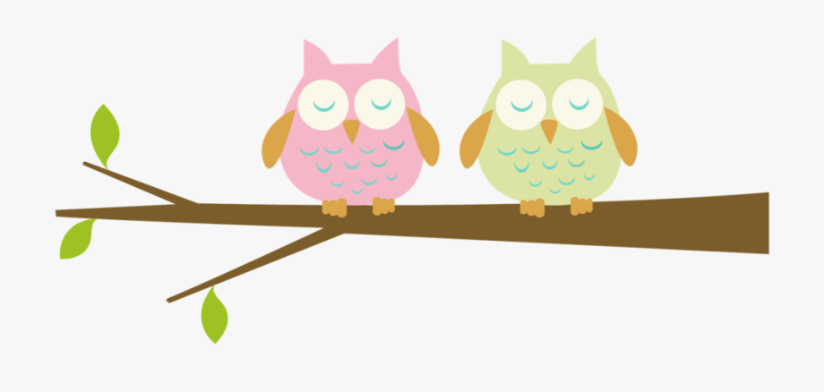 Branch Clip Art Two Cute Owls Transprent Ⓒ.