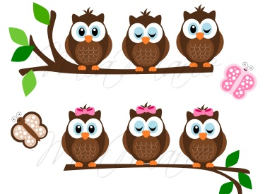 Butterfly Owl Clipart.