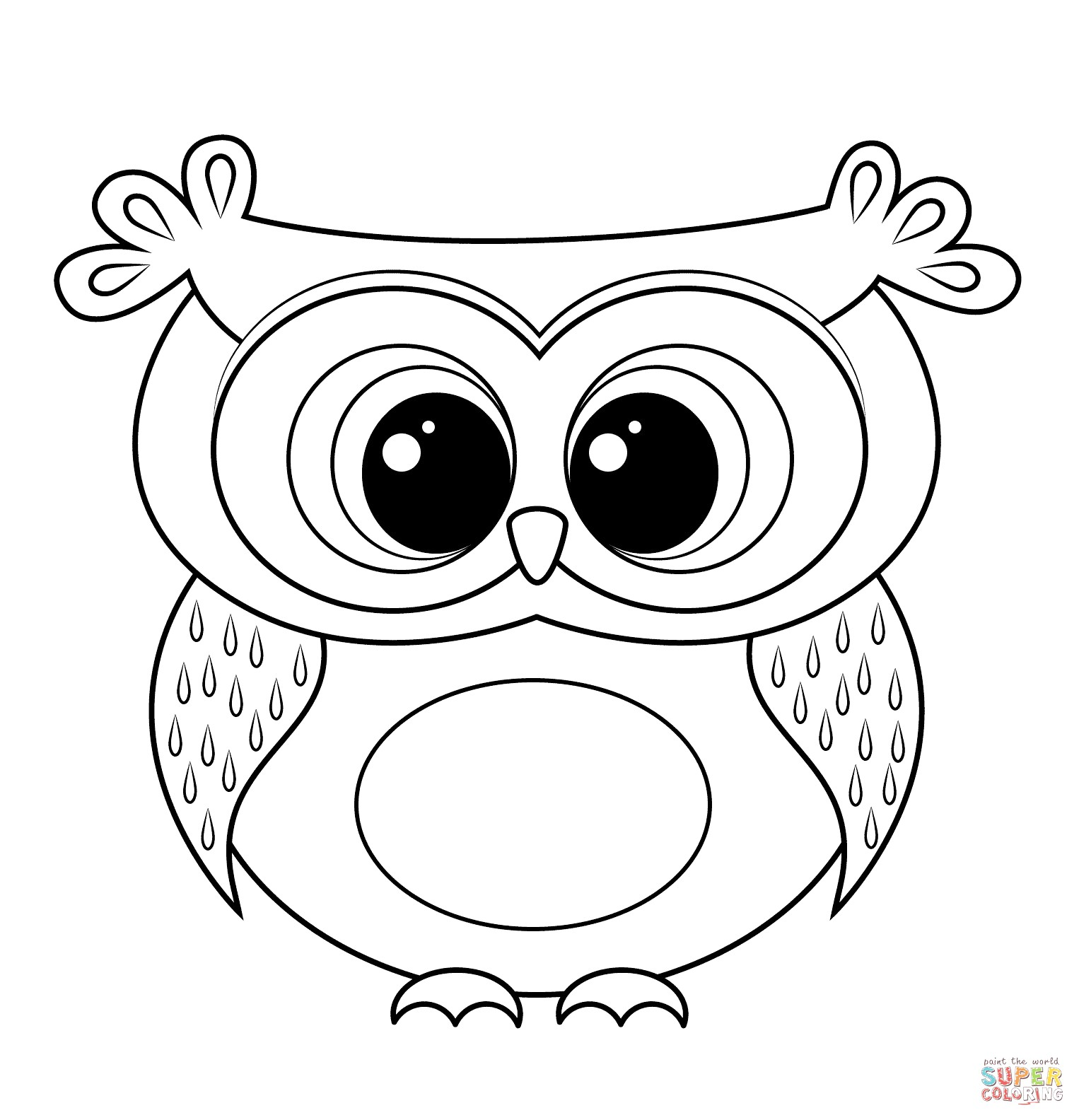 Coloring Ideas : Coloring Ideas Owl Clipart Black And White.