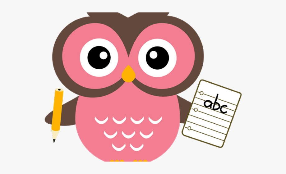Owl With Pencil Png.