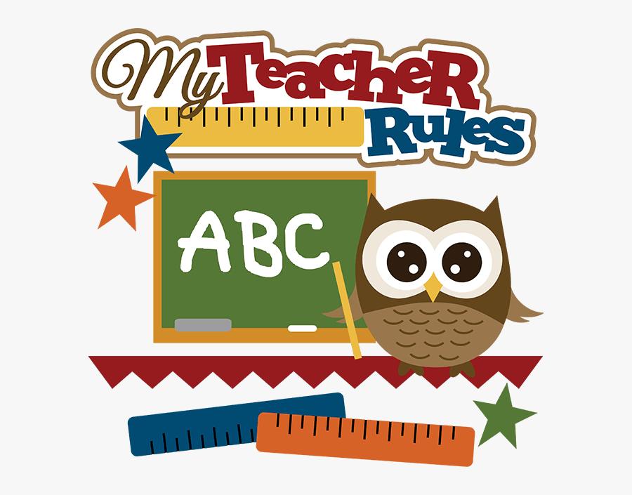 Cute Owl Teacher Clipart.