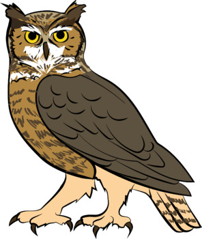 Great Horned Owl Clipart.